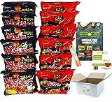 BUNDLES FOR YOU - Samyang Hot Ramen Noodles - Vorteilspack (12x140g) 6 statt 5 Portionen pro Sorte - Korean Fire Noodle Set 3